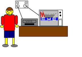 Me with TV and VCR by dev-catscratch