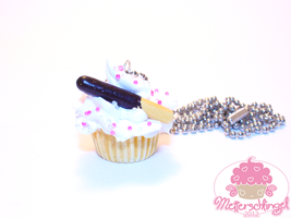 Pocky Stick Cupcake Necklace by Metterschlingel