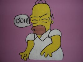 Homer Simpson D'oh by MelanieBrown