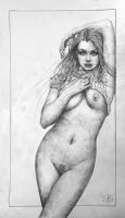 Nude drawing for local nude galley show by tomasoverbai