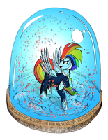 Zap Lightning Snow Globe by mozakiaeolus