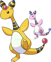 181 - Ampharos - Art v.4 by Tails19950