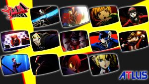 Persona 4 Arena: stars and hosts by MrJechgo