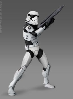 Episode VII Stormtrooper (Animated Style) by Brian-Snook