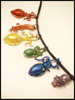 Rainbow Cepahlopod Pendants by FlyingFrogCreations