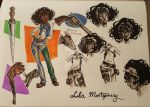 Lila Montgomery character page by kncomics