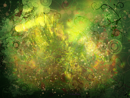 Green Spring Magical Wallpaper by maybesomecake