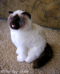 Douglas Cuddle Toys - Mini Birman Cat Plush by The-Toy-Chest