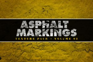 Asphalt markings textures volume 02 by simonh4