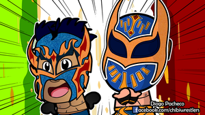 Kalisto and Sin Cara - Lucha Dragons Wallpaper by kapaeme