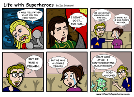 Life with Superheroes #10 by ZacAvalanche