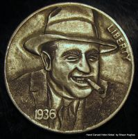 Al Capone Coin Carving Hobo Nickel by shaun750