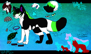 Wolfy Feral Reference 2013 by whitewolfspup