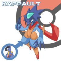 Water Starter Pokemon:Kappault by Cessa