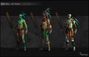 Aztec_Mayan warrior concepts by EleosInteractive