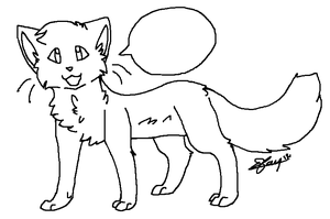 .: A Cat Lineart:. by Nouchie