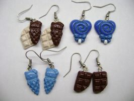 Adorable Polymer Clay Earrings by Lord-Ackbar