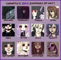 2012 Art Summary by DrawKill