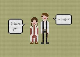 Quoteables - Leia Han cross stitch pattern by avatarswish