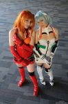 + Langley and Ayanami + by hiyoko-chan