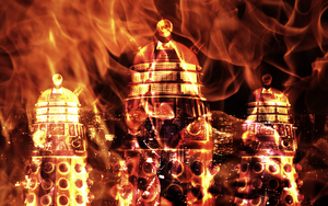 The Fire of the Daleks by Leda74