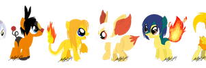 PokePonies: Fire Type -CLOSED- by m00nstonee