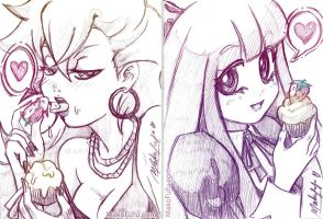 62-63 KeyWord Commish: Panty n Stocking by Mako-Fufu