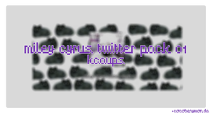 +Miley Cyrus twitter pack 01. by CocoBenymon