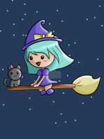 Kawaii Witch Design by artbox99