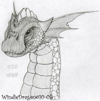 Bronze Dragon pencil by WindieDragon