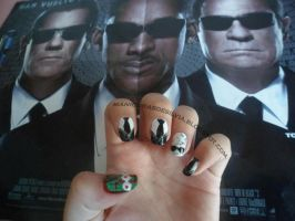 MIB nails by kotobayaoi