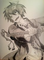 Ao No Exorcist: Okumura Rin by TravelingArtist93