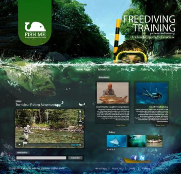 diving website by graphstas