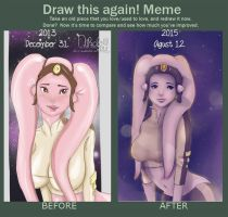 Then and Now, Draw this again Meme! by ipheli