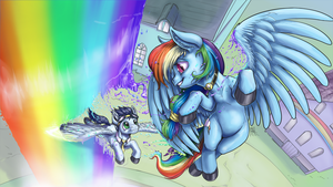 Rainbow Flight by AphexAngel