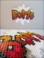 Super Mario 2 bomb text bead sprite by 8bitcraft