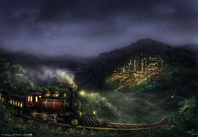 The road to Dontar by Shirvell