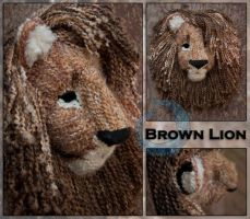Brown Lion Mask by crocodiledreams
