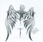 Angel tattoo by Stephs77