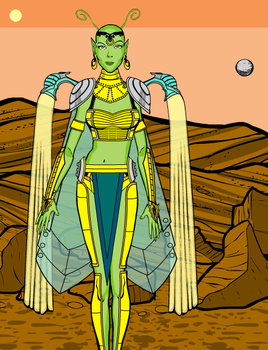 A'Thaya, High Priestess of Mars by Captain-Chaotica