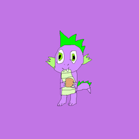 Spike with a cookie by SuperSmashCynderLum