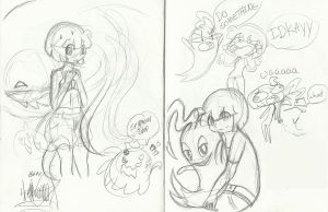 .:Inky and Yui doodles:. by Papiwolffox640