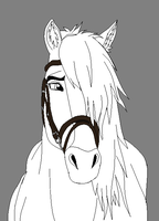 Horse lineart 7 by CookieCannibleSofiel