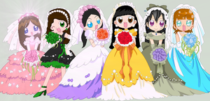 Wedding Girls *Completed Collab* by FlyingPrincess