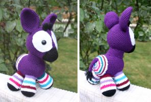 Big Purple Okapi by MilesofCrochet