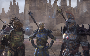 Two Argonians And A Kha Uh Imperial by Gneiss-chert