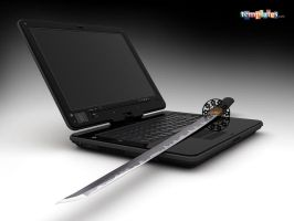 Harakiri laptop by 3Dmaxwell