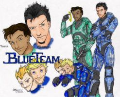 Le Blue Team by xXLexm00finxQueenXx