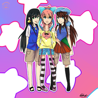 SM Entry 3 - Reina, Canary and Risaya by T3RII