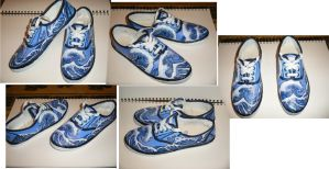 Hokusai Sneakers by candybop